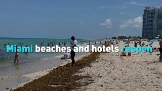 Miami beaches and hotels reopen