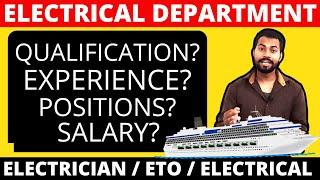 Electrical Jobs In USA & Cruise Ships || Complete details with Salary, Qualification & All.